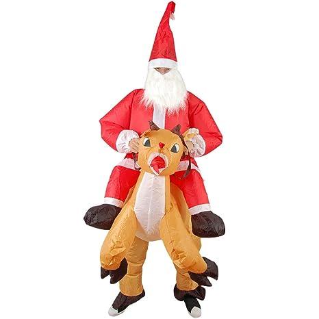 Disfraz de Papá Noel para cosplay, ropa inflable de Navidad ...