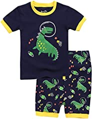 Vaenait Baby Boys Toddler Girls Summer Pajamas Pyjamas 100% Cotton 12M-8 Short Sleeve