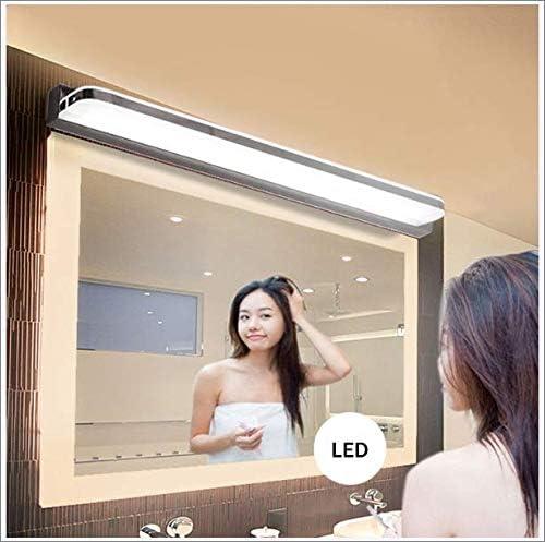 LCAZR Spiegellampe Badlampe Badleuchte Spiegelleuchte Wandleuchte, Wasserdicht Und Beschlagfrei,Edelstahl Led Badezimmerlampe, FüR Bad Spiegel Leuchte,6000K Weißes Licht,100cm 90cm