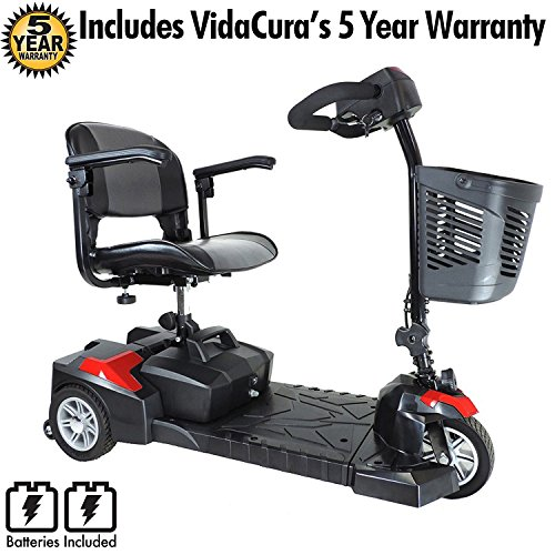 Drive Medical Scout 3 Scooter Including 5 Year Extended Warranty (12 AH Battery (9 Mile Range)) from Drive Medical