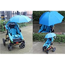 Baby Stroller Wheelchair Pushchair Umbrella Holder UV Rays Rain Sun Canopy Mount Stand (Blue)