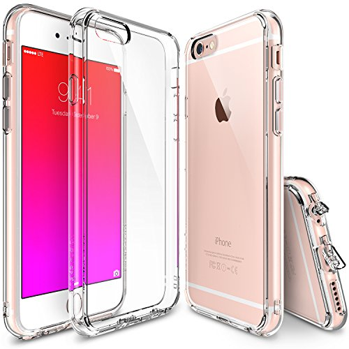 iPhone 6s Plus Case, Ringke [Fusion] Clear PC Back TPU Bumper w/ Screen Protector [Drop Protection/Shock Absorption Technology][Attached Dust Cap] For Apple iPhone 6s Plus / 6 Plus - Clear - Case Combo Pack