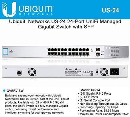 Ubiquiti Networks US-24 24-Port UniFi Managed Gigabit Switch with SFP by Ubiquiti Networks