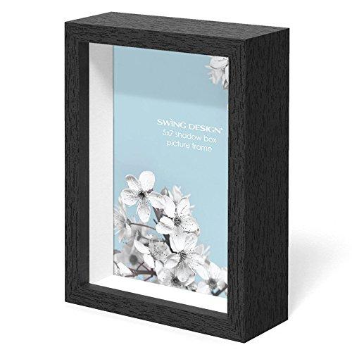 Swing Design Chroma Shadow Box Frame, 5 by 7-Inch, - 7x7 Shadow Frame Box