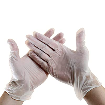 BITOPYTOPSIY Disposable Nitrile PVC Latex-Free Medical Gloves Exam Beauty Care Tattoo Food Transparent Sanitary Gloves 100PCS: Clothing