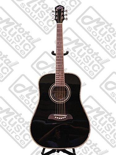 Oscar Schmidt 6 String OG1B 3/4 Size Dreadnought Left Hand Acoustic Guitar. Black (OG1BLH-A)