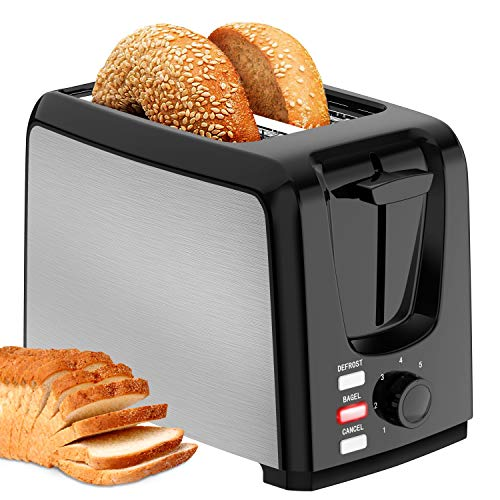 Toaster 2 Slice Wide Slot 2 Slice Toaster Best Rated with Bagel/Defrost/Cancel Function Cool Touch Black Toaster for…