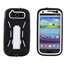 Eagle Cell Rugged Armor Hybrid Combo Case with Kickstand for Samsung Galaxy S3 i9300, i747 Models
