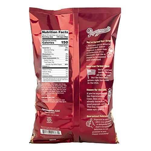 Popcornopolis Popcorn, Zebra, 24 Ounce