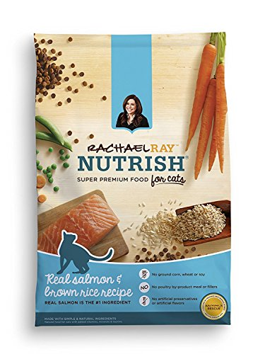 Rachael Ray Nutrish Natural Dry Cat Food, Salmon & Brown Rice Recipe, 3 lbs (Pack of - Ray Cat
