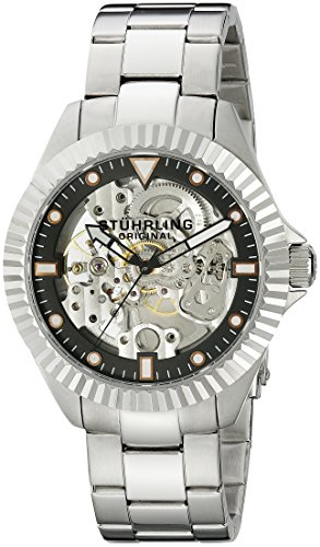 Stuhrling Original Men's 8110.33111 Symphony Regent Diadem Mechanical Skeleton Black Dial Watch