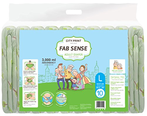 FAB SENSE City Print Adult Briefs (Large)