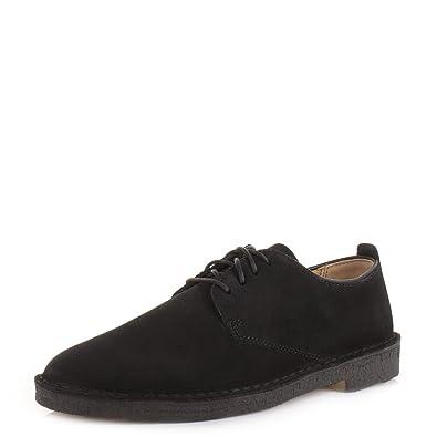 06a869e232d Clarks Originals Desert London 4 en daim Noir à lacets décontracté  Chaussures - Noir - noir