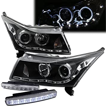 51dFMNnK9RL._SY355_ amazon com 2011 2012 chevy cruze headlights projector halo rim chevy cruze headlight wiring diagram at virtualis.co