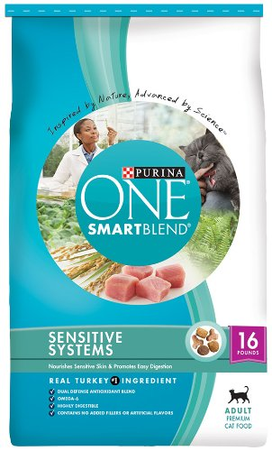 Purina One Cat Sensitive System Cat Food, 16-Pound, My Pet Supplies
