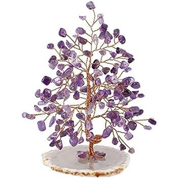 Jovivi Natural Amethyst Crystal Quartz Money Tree Tumbled Gemstones 5.5