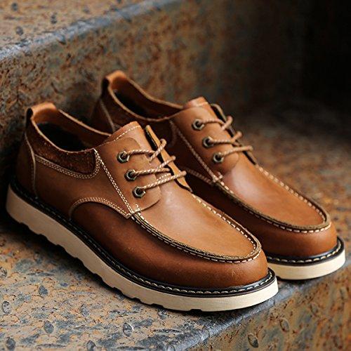 Minitoo - Zapatos Planos con Cordones hombre, color marrón, talla 41
