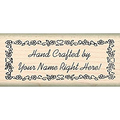 Custom Made & Personalized – Hand Crafted by Rubber Stamp – 1 inch x 2-1/4 inches - Font Choices: Arts, Crafts & Sewing [5Bkhe1106588]