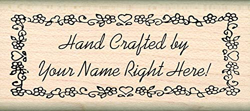 (Custom Made & Personalized - Hand Crafted by Rubber Stamp - 1 inch x 2-1/4 inches - Font Choices)