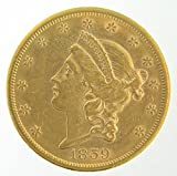 1859 S Pre-1933 US Gold Coins $20 Various Grades