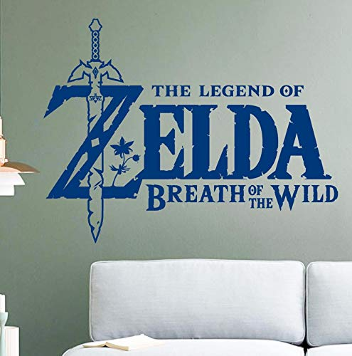 Dalxsh Game Wall Sticker for Kids Room Decoration The Legend of Zelda Breath of The Wild Decal Nursery Bedroom Decor 42X55Cm ()