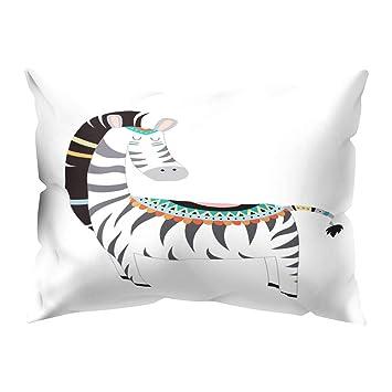 White Tiger Strong Cover Pillow Case Cushion Decor Home Polyester Sofa Animal