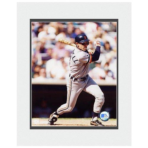 Photo File Detroit Tigers Alan Trammell Matted (Alan Trammell Batting)