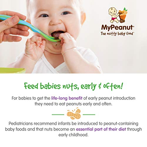 MyPeanut Baby Food, Organic Stage 1 Peanut and Apple Puree for Introducing and Feeding Babies and Toddlers Nuts, Non-GMO, BPA Free 3.5 oz Pouch, 24 Pack by MyPeanut (Image #3)