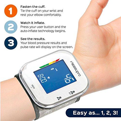 wrist blood pressure monitor instructions