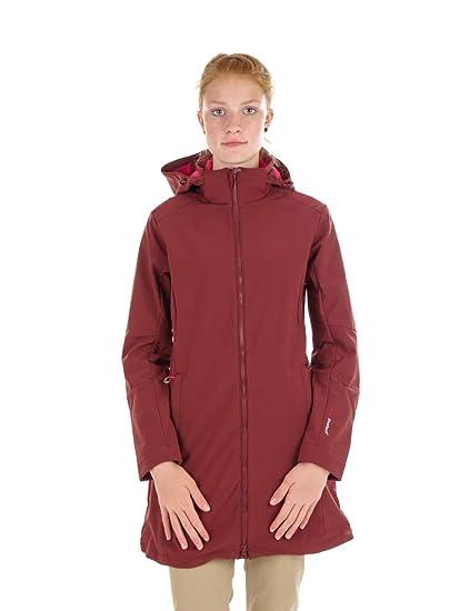 CMP Softshellmantel Jacke Woman Coat Zip Hood ROT Winddicht