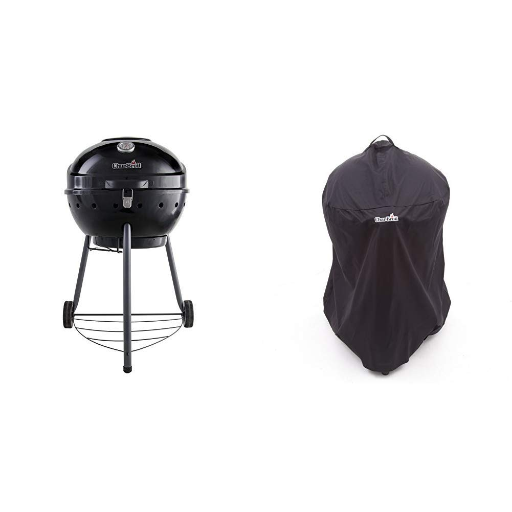 Black Finish. Char-Broil Kettleman/™ Charcoal Barbecue Grill
