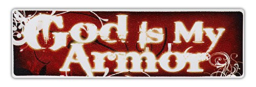 Hardhat Hard Hat Helmet Stickers Decals - God Is My Armor - Religious, Jesus Christ - Roughnecks, Construction, Oil Field (Field Of Armor)