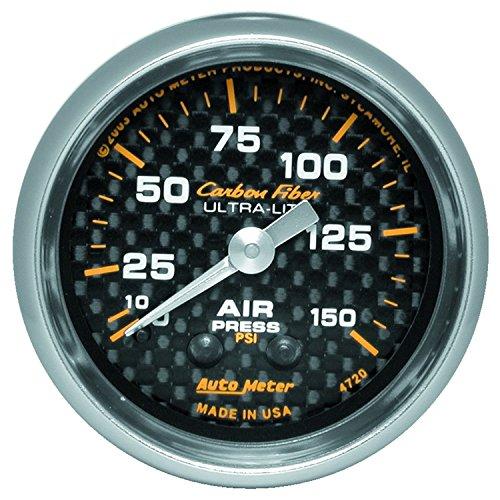 Auto Meter 4720 Carbon Fiber Mechanical Air Pressure (Auto Meter Carbon Fiber Oil)