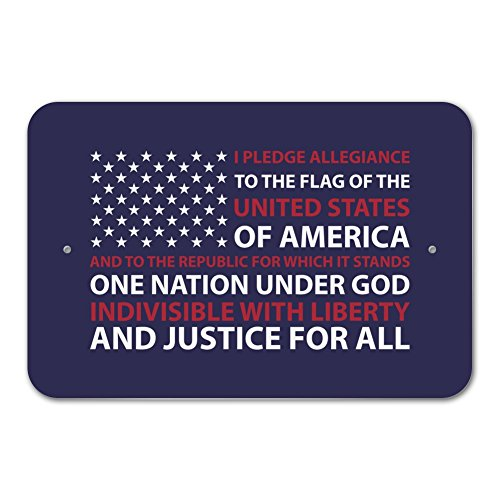 Graphics and More USA Flag Pledge of Allegiance America Home