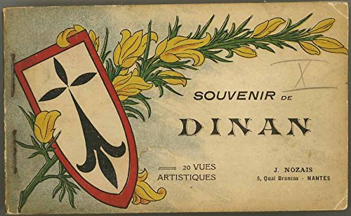 1924 Souvenir Booklet of Dinan - Brittany France - With 20 Detachable Post Cards For Your Friends