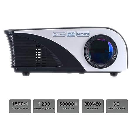 QLPP Proyector de vídeo 1200 lúmenes 120 Pulgadas MAX con Pantalla ...