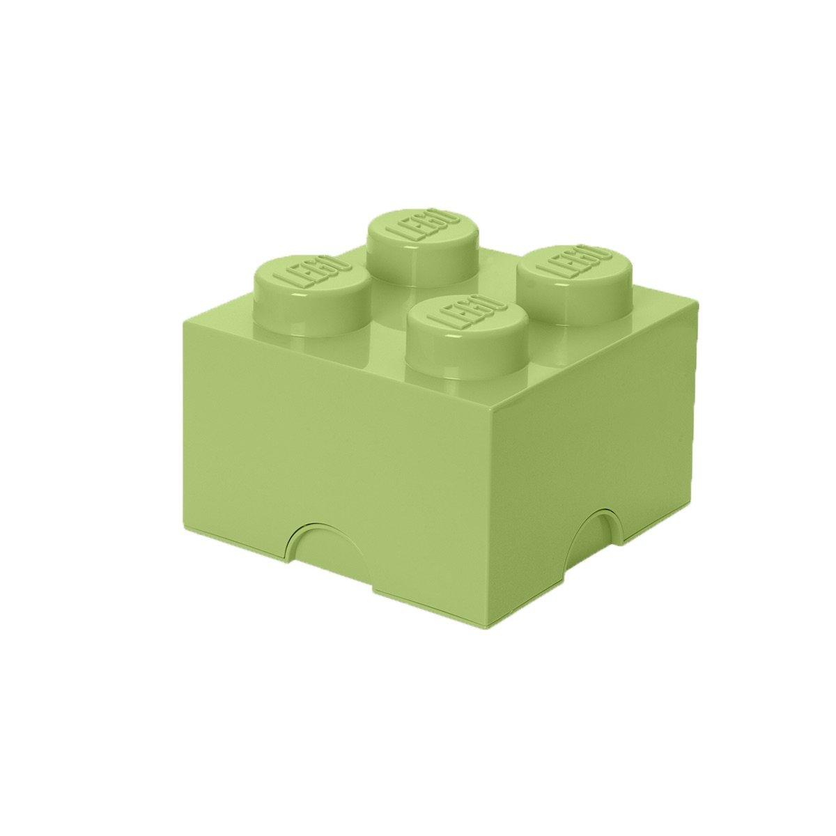 Spr Contenitore Impilabile Mattoncino-contenitore Lego a 4 Bottoncini 5,7 Litri Yellowish Green