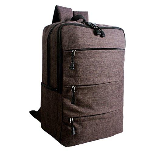 ZKOO Mochilas Escolares Lona Escolar Mochilas Daypacks Gran Capacidad Bookbag Mochila de Viaje Laptop Backpack Marrón