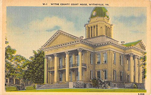 Wytheville Virginia Wythe Court House Street View Antique Postcard K63474 ()
