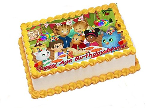 Unbranded Daniel Tiger Edible Image Sheets Cake Toppers (Wafer/Rice Paper)]()