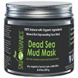 Best Skin Care System Dead Sea Mud Mask by Sky Organics For Face, Acne, Oily Skin & Blackheads - Best Facial Pore Minimizer, Reducer & Pores Cleanser Treatment - Natural & Organic Body Mud For Younger Looking Skin 8.8oz
