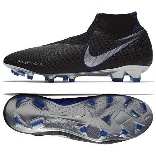 Nike Phantom VSN Elite DF Game Over FG AO3262-004 Black/Blue Men's Soccer Cleats (9) (Nike Soccer Cleats Size 9)