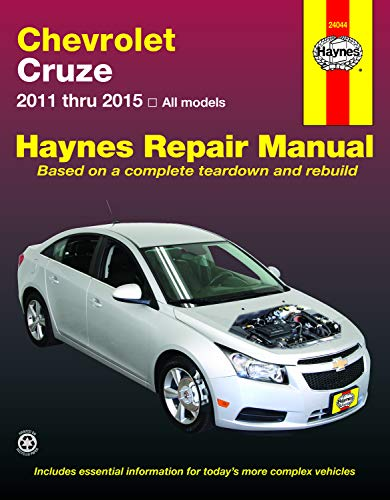 Chevrolet Cruze (11-15) Haynes Repair Manual (Does not include information specific to diesel engines. Includes thorough