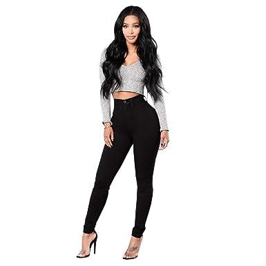 56f9480b79c05 Jeans Femme Noir Taille Haute Jeans lavés,Kinlene Jeans Leggings Skinny  Slim Fitness Pantalons Pantalons Pantalons  Amazon.fr  Vêtements et  accessoires