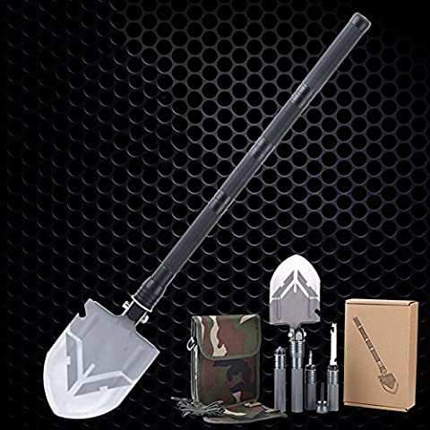 EDTara Multi-function Outdoor Camping Adventures Entrenching Engineer Shovel?Easy to Install Function Stainless Steel Folding - Ortovox Shovel