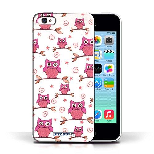Etui / Coque pour Apple iPhone 5C / Rose/blanc conception / Collection de Motif Hibou