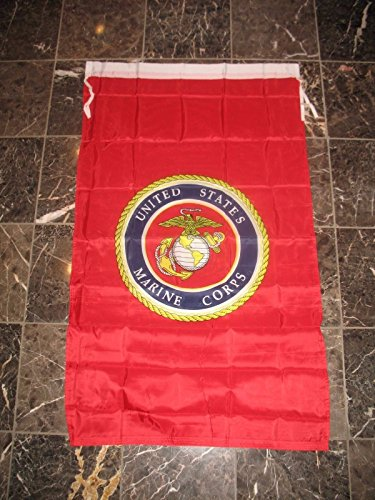 (2.5X4 United States Marine Corps Seal Emblem Double Sided Vertical Banner Flag)