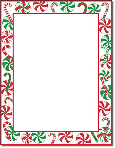 Peppermints Party Holiday Stationery - 80 Sheets by Great (Christmas Paper)