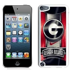 Georgia Bulldogs White Abstract Design Custom iPod Touch 5 Case