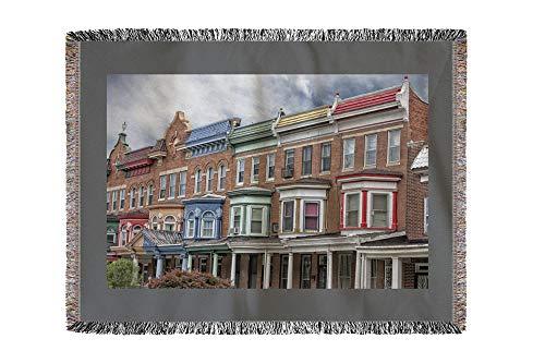 Lantern Press Baltimore, Maryland - Druid Hill - Photography A-92781 (60x80 Woven Chenille Yarn Blanket)